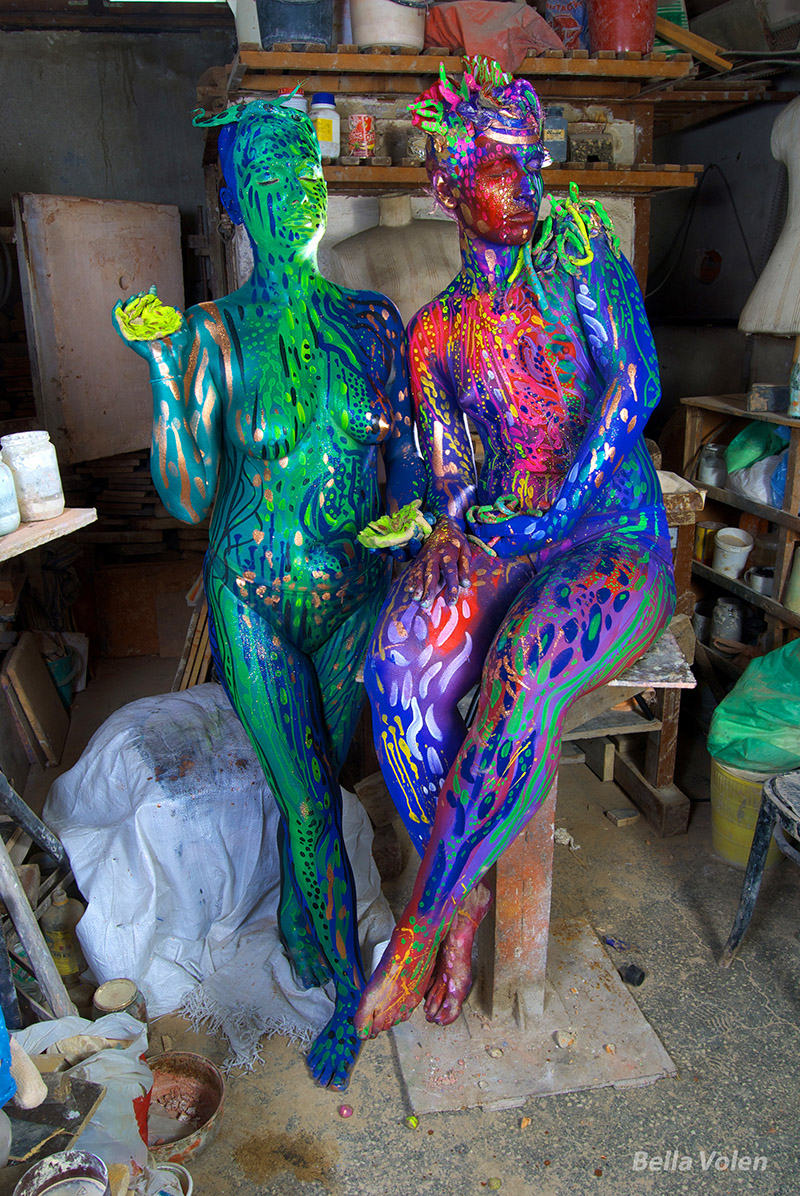 abstract body painting