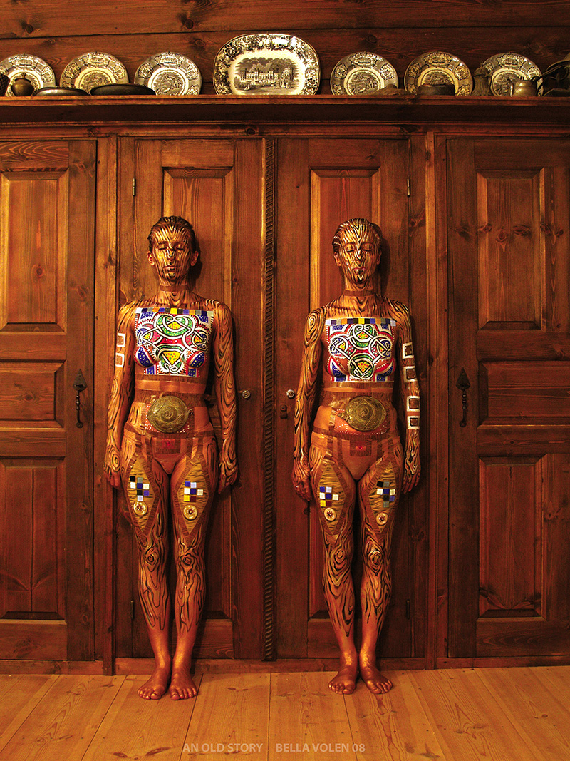 wood bodypainting
