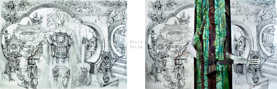 Installation With Body Art Visual Art By Bella Volen