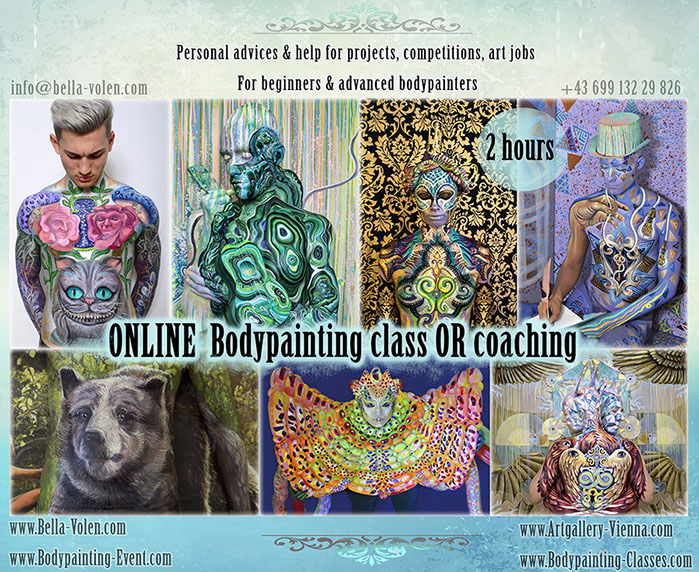 Body Painting Classes Art Workshops Painting Drawing Classes Visual Art By Bella Volen