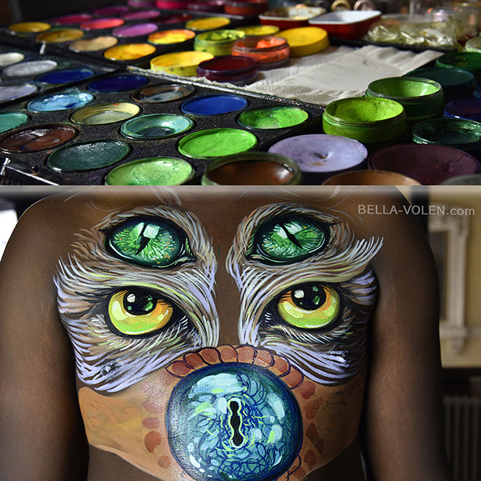 bodypainting making-of