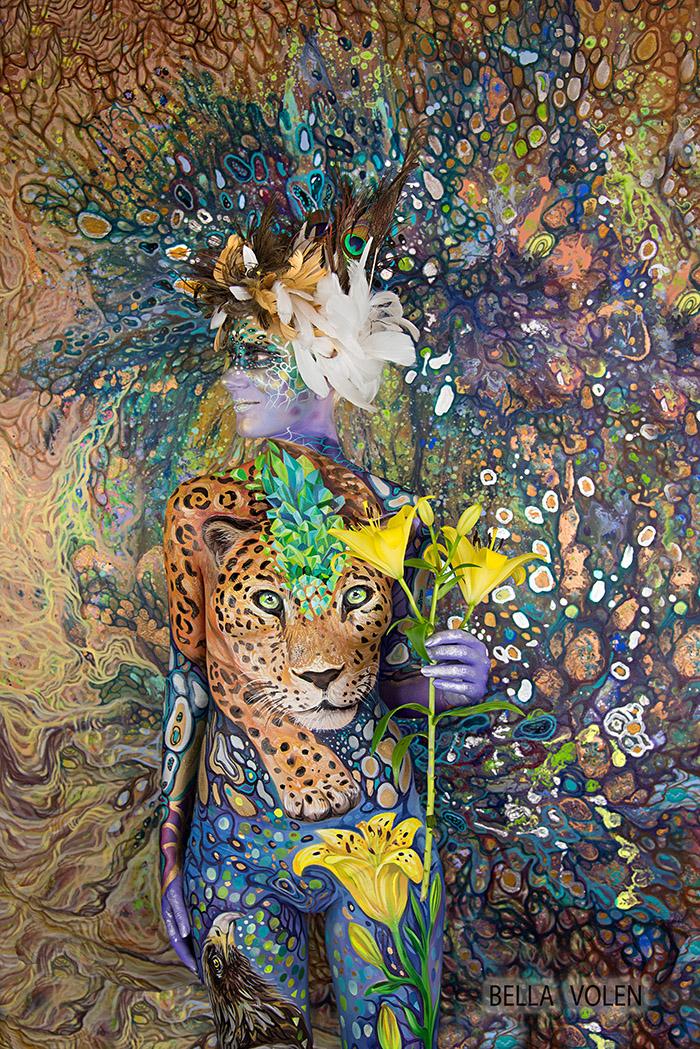 Fine Art Body Painting Gallery By Academic Artist Bella Volen Visual Art By Bella Volen